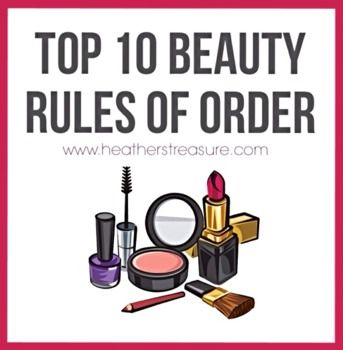 #Top10 #Beauty Rules