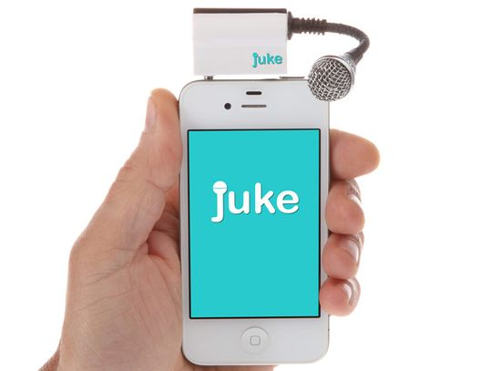Juke Transforms Your Smartphone Into A Portable Karaoke Machine (video) - Juke is equipped with a Bluetooth microphone that can be pushed directly into the smartphone headphone jack and has also been designed to connect to your existing home stereo or stand-alone speakers. Juke is currently campaigning on Kickstarter.