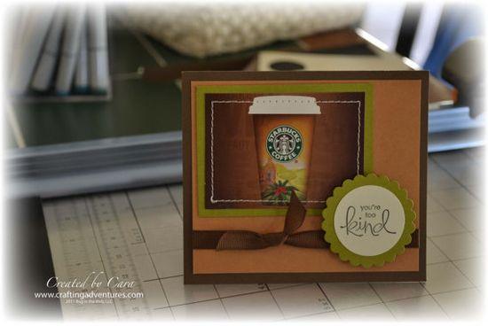 Starbucks handmade gift card holder