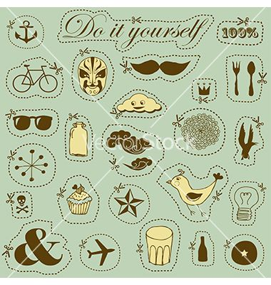 Do it yourself vector - by alevtina on VectorStock®