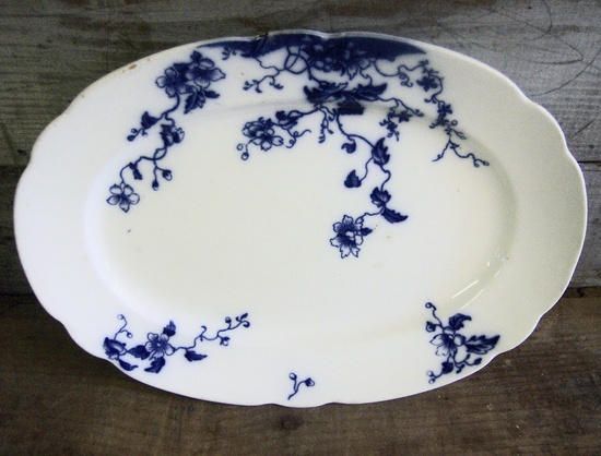 Antique Grindley China Duchess Flow Blue Pattern