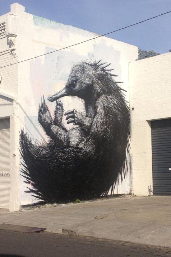 Saw some amazing graffiti in Melbourne