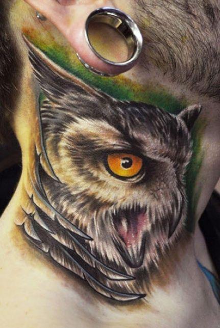 Owl tattoo by Chad Chase #bird #owl #tattoo #InkedMagazine #tattoos