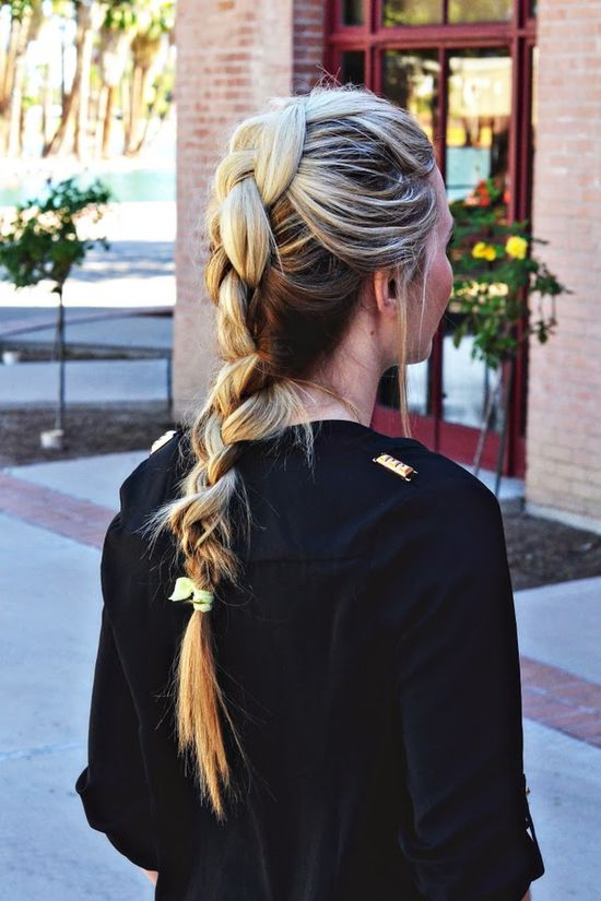 Love this new twist on your classic favorite French braid!
