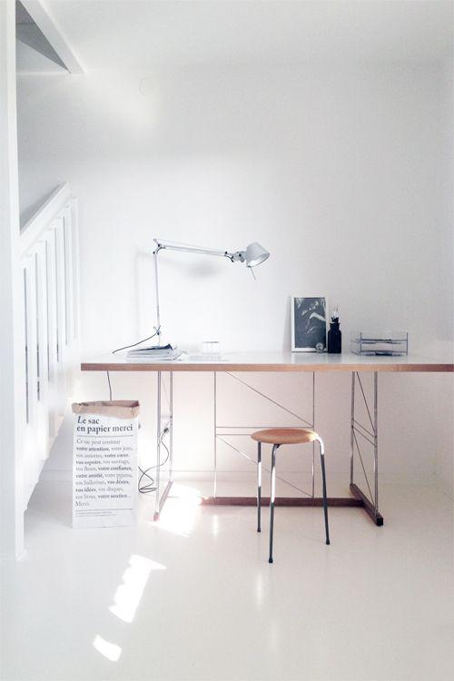 #interior design #office spaces #desks #working areas #minimalism #light #white
