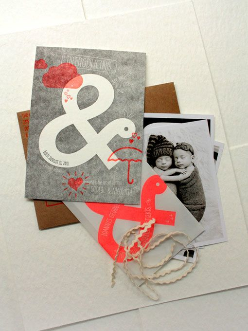 ampersand baby announcements!