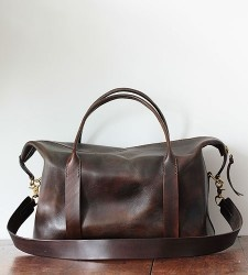Leather Duffle - Brook Farm General Store