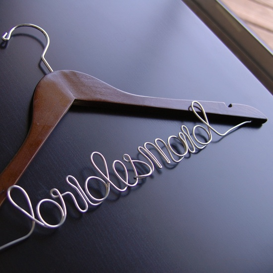 Personalized Bridal Hanger - Bridesmaid-