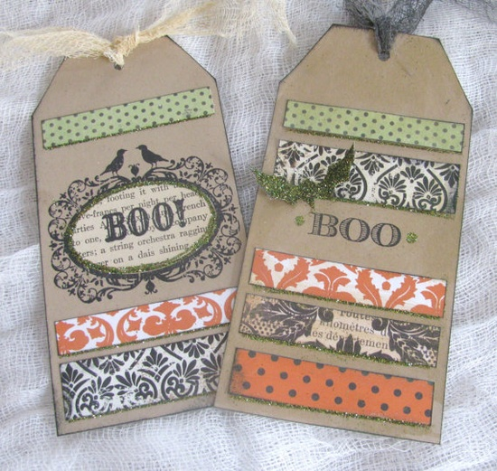 Cute halloween tags