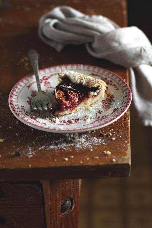 Fig and raspberry galette.