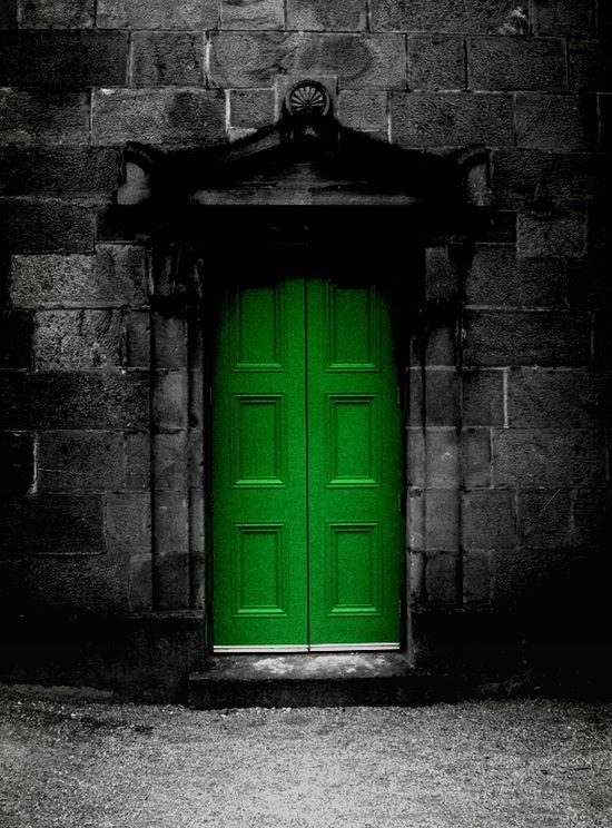 a green door . . .