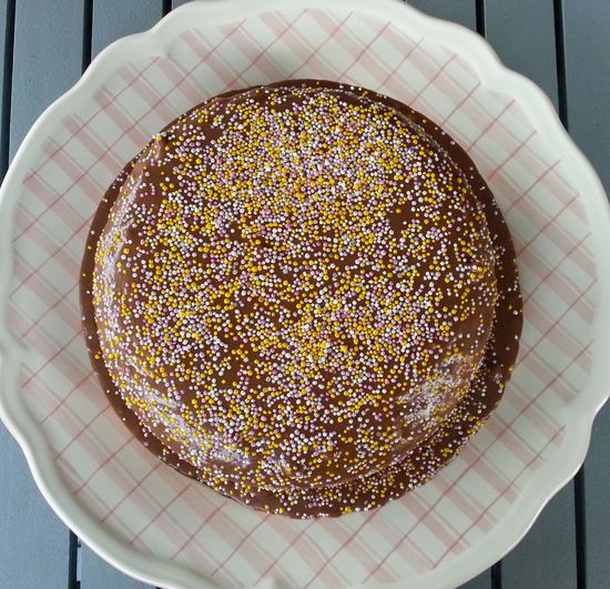 Chocolate cake baking...