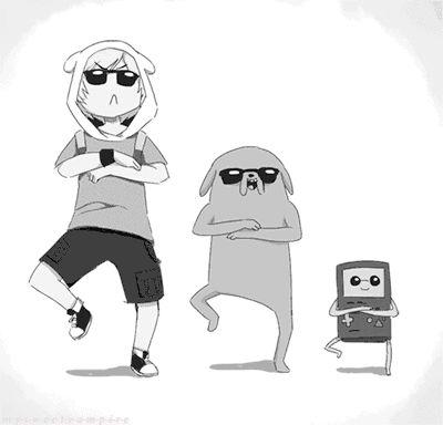 Adventure Time Gangnam Style (gif)  Mashup -