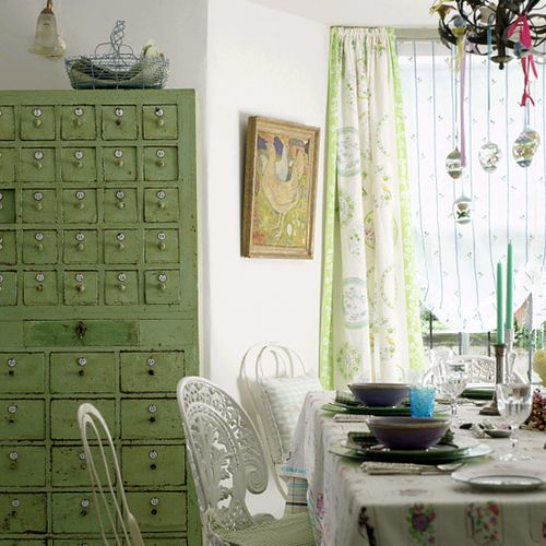 LOVE the green cabinet so much!!!