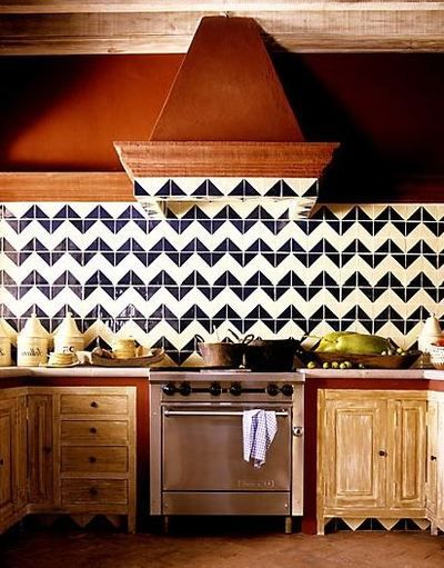 chevron backsplash!