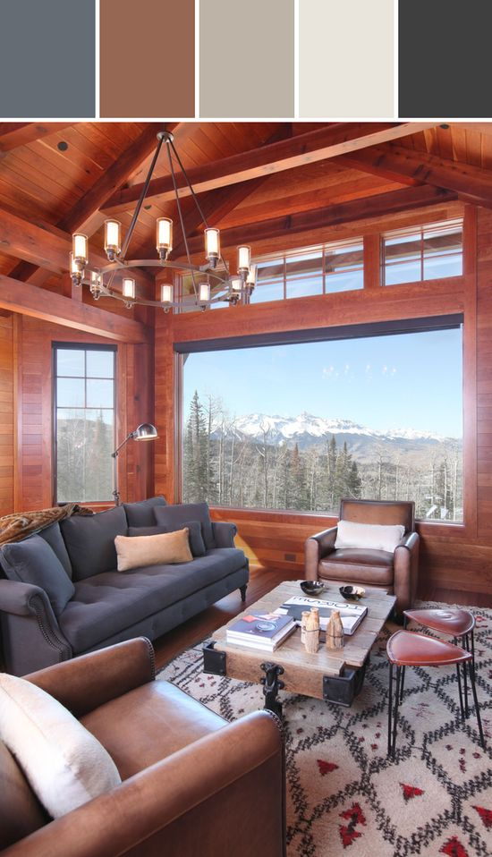 Mountain Living Room Designed By Wayfair via Stylyze
