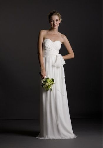 Simple wedding dress.