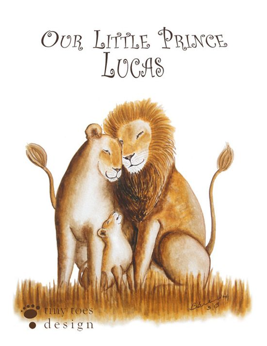 Lion Art for Baby Boy or Girl Nursery by TinyToesDesign on Etsy