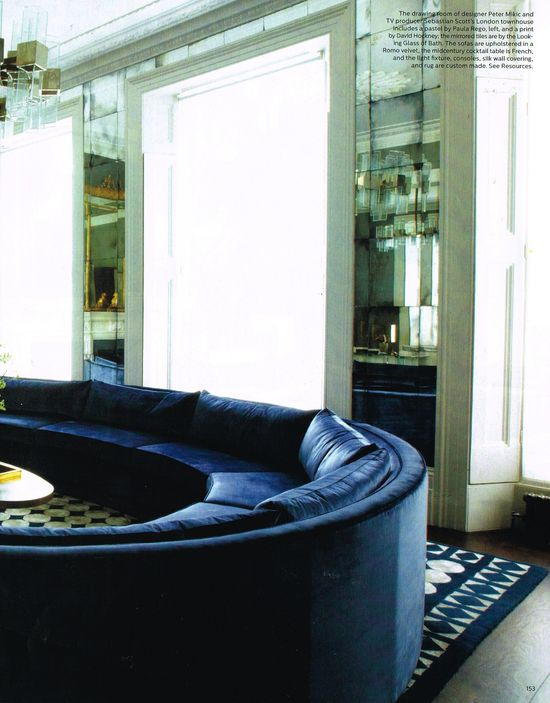 curved sofa detailing