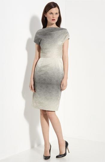 Lela Rose V-Back Sheath Dress $1295 #dress