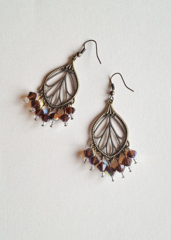 Bohemian chandelier earrings bohemian jewelry by BohoGrooveDesigns, $20.00