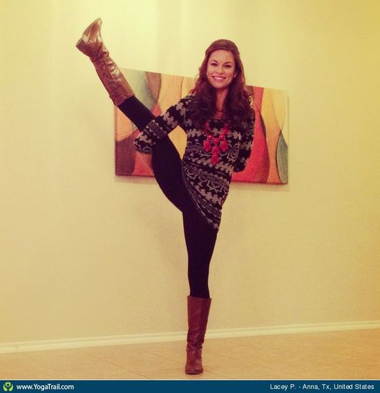#Yoga Poses Around the World: Bird of Paradise Pose taken in Anna, Tx, United States by Lacey P.