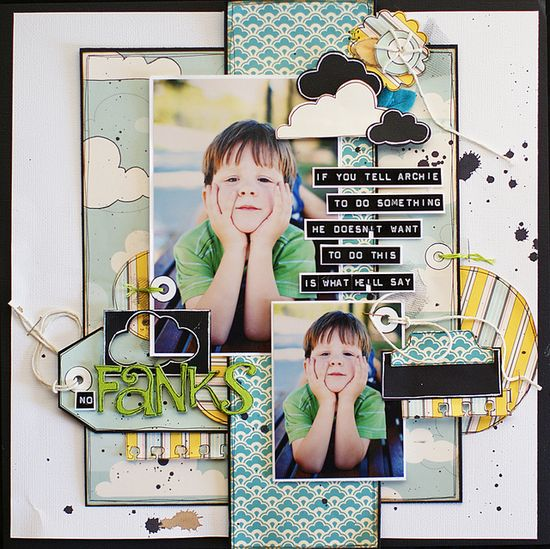 #scrapbook #layout with great layering & details