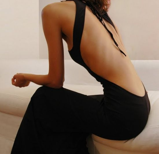 Backless and gorgeous.