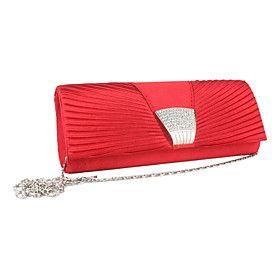 Gorgeous Silk with Austria Rhinestones Wedding/Special Occasion Evening Handbag/Clutches(More Colors)