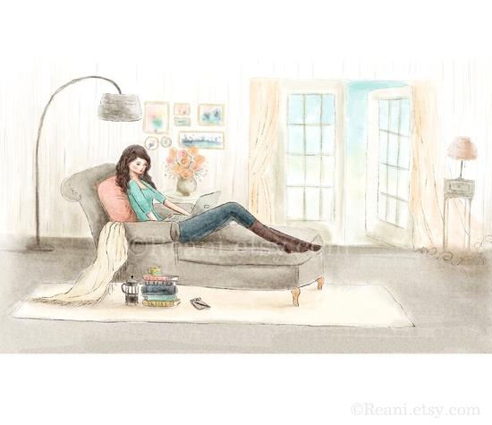 Custom Illustration with Blog Banner Design -  by Reani on Etsy.