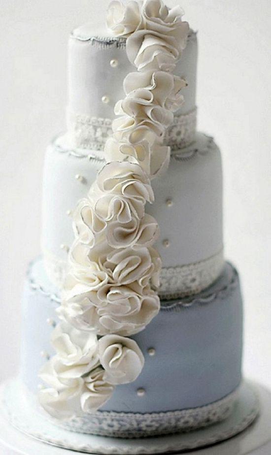 blue wedding cake design