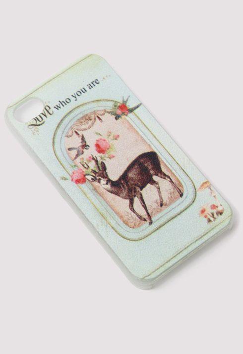Retro Deer Print Mobile Phone Case