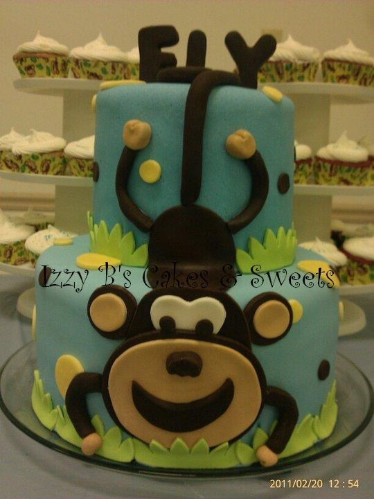 Baby Monkey Baby Shower Cake