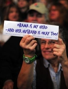 Michelle Obama fan at Ohio Wesleyan University. This makes me happy :)