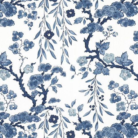 tabley house floral wallpaper in porcelain from ralph lauren home