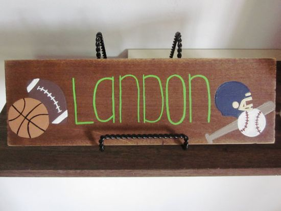 Baby boy name plate