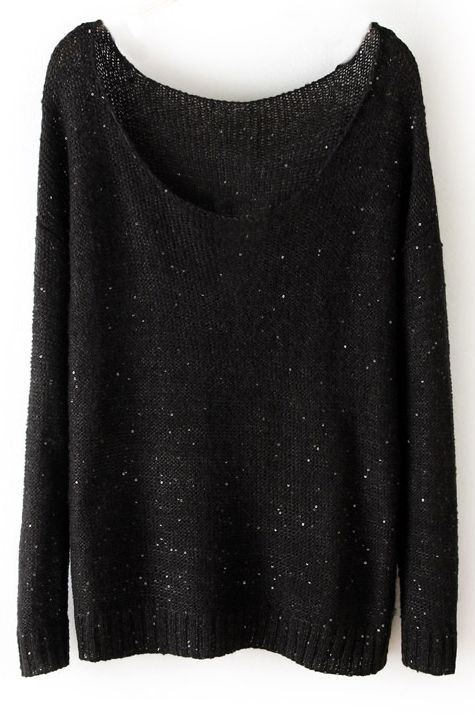 Sequined Loose Pullover