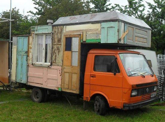 Salvaged mobile home ~ a-door-able :)