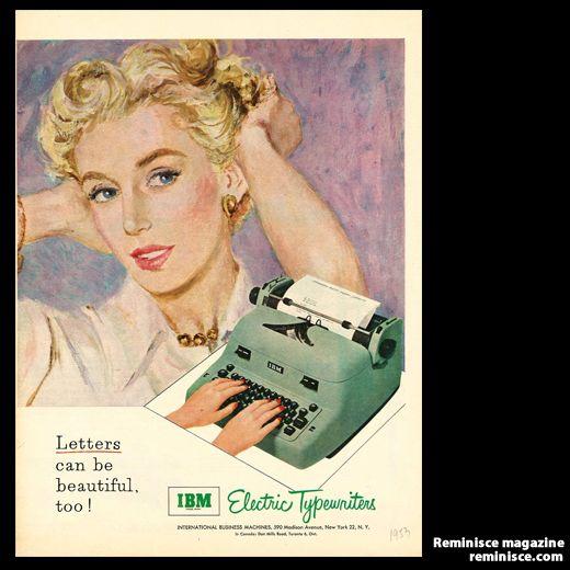 1950s typewriter - Vintage ad