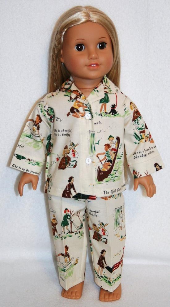 Girl Scout Pj's for American Girl Doll -- for Sydney