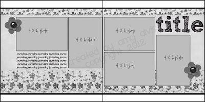 double scrapbook layout
