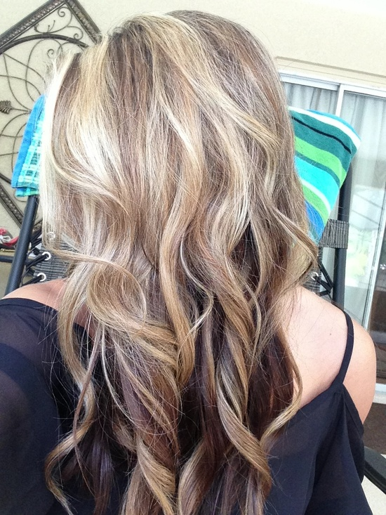 Pretty hair color if I decide to go darker and keep some blonde high lights.