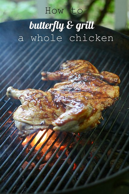 How to Butterfly & Grill a Whole Chicken by @Lauren Brennan