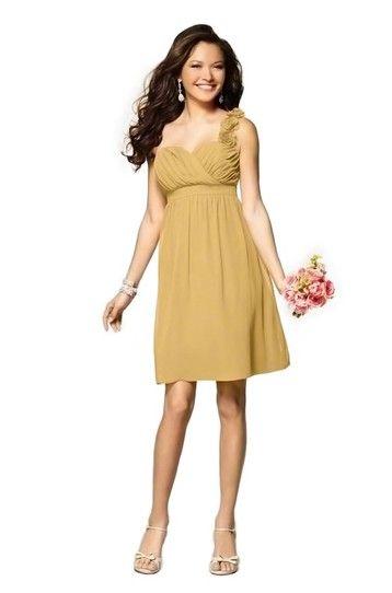 Cocktail Length Chiffon Dress.