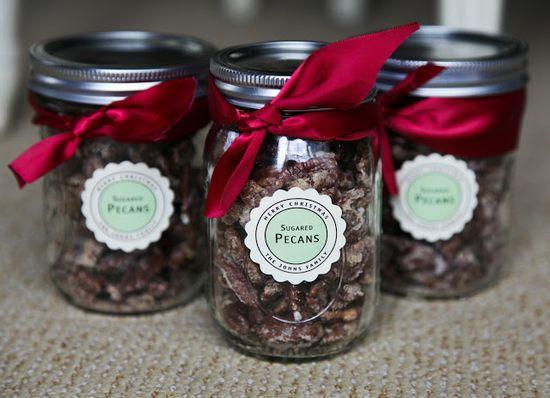 Handmade gift {sugared pecans}