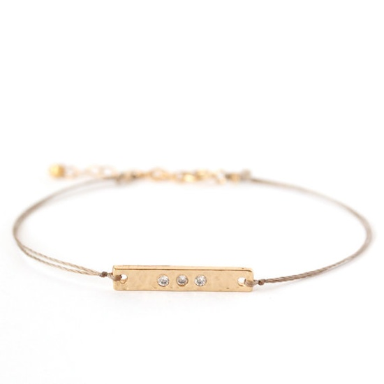 gold & crystal bar bracelet / ayofemi jewelry