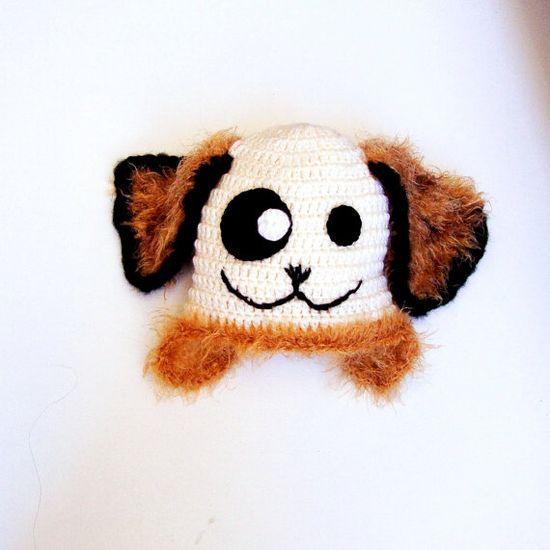 Crochet Baby Animal Dog Hat Baby  Dog Hat Crochet by PeppyBaby, $28.00