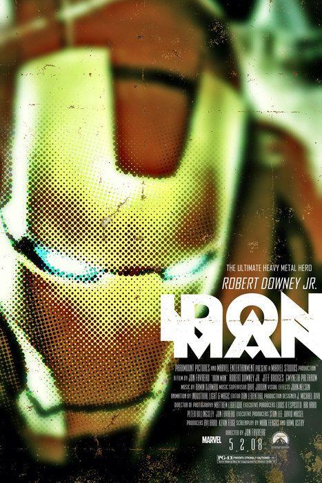 Iron Man - 12x18 - Movie Poster -  by Duke Dastardly