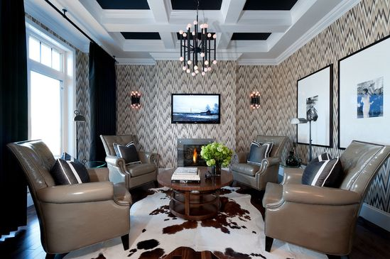 Hospital Home Lottery 2012 - Den - contemporary - living room - other metro - Atmosphere Interior Design Inc.