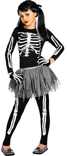 White Skeleton Halloween Costume for Children